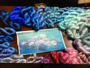 綴れ織りに使う絹糸